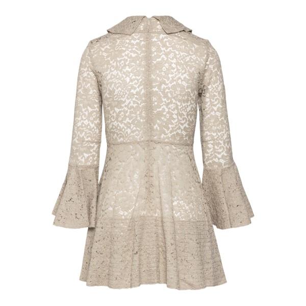 Semi-transparent beige short dress in lace                                                                                                             PATOU