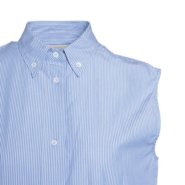 Abito lungo azzurro a camicia                                                                                                                          LOULOU STUDIO                                      LOULOU STUDIO