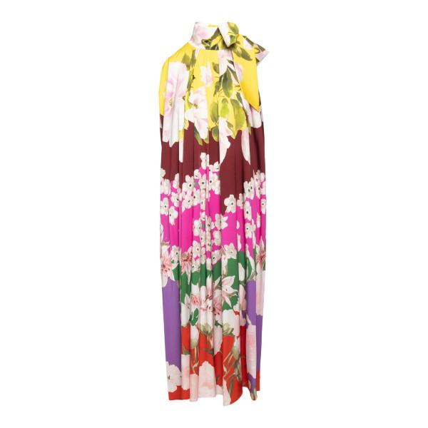 Abito lungo multicolore a fantasia floreale                                                                                                           Valentino VB0VAUW6 retro