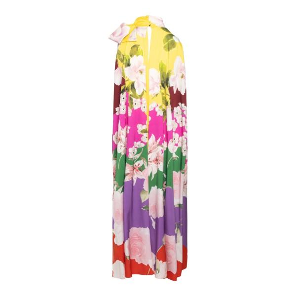 Abito lungo multicolore a fantasia floreale                                                                                                            VALENTINO                                          VALENTINO