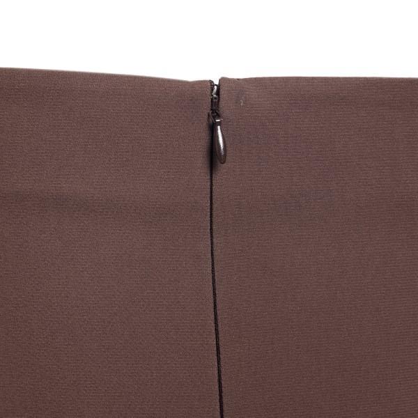 Brown midi dress with draped detail                                                                                                                    VALENTINO