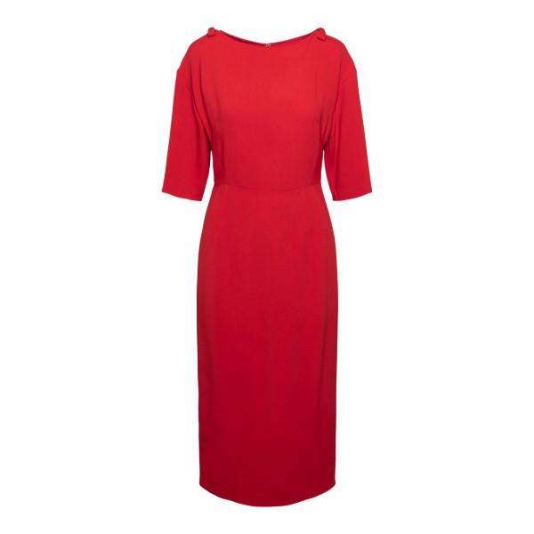 Red midi dress                                                                                                                                        Valentino VB3VAV95 back