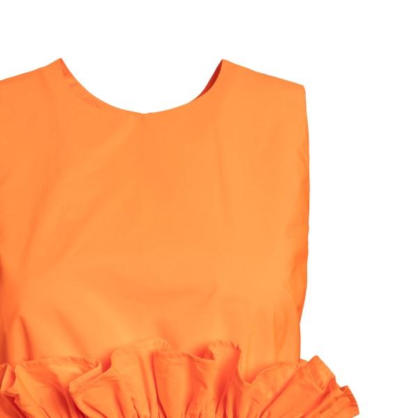 Abito midi arancione con orlo asimmetrico                                                                                                              RED VALENTINO                                      RED VALENTINO