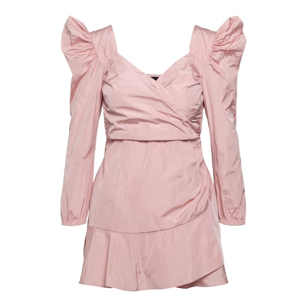 Short pink dress with puff sleeves                                                                                                                    Red Valentino VR0VAAY0 back
