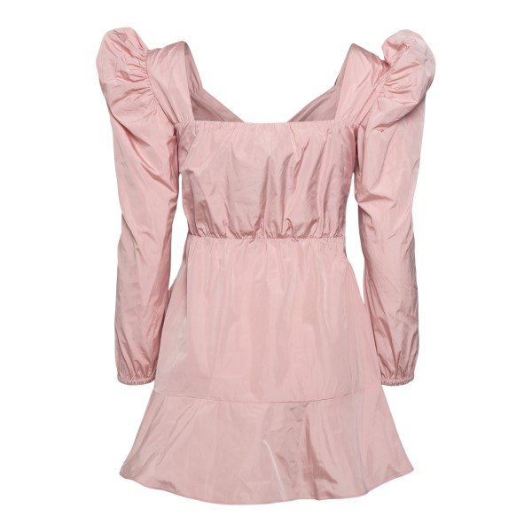 Short pink dress with puff sleeves                                                                                                                     RED VALENTINO
