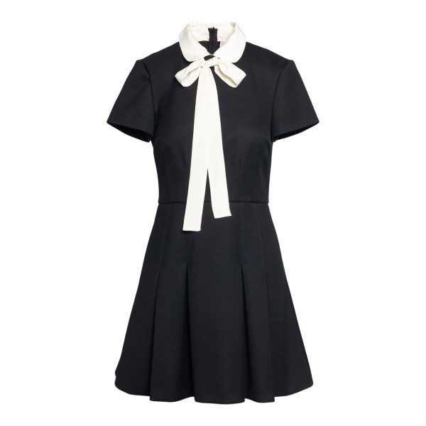 Short black dress with bow                                                                                                                            Red valentino VR3VAX90 front