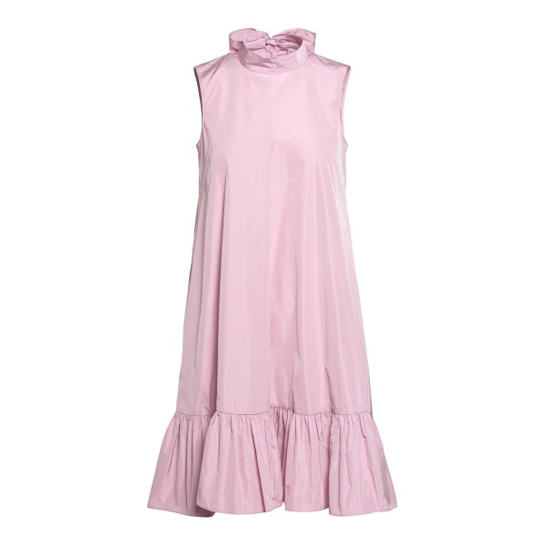 Pink sleeveless dress with flounces                                                                                                                   Red valentino VR3VAY35 front