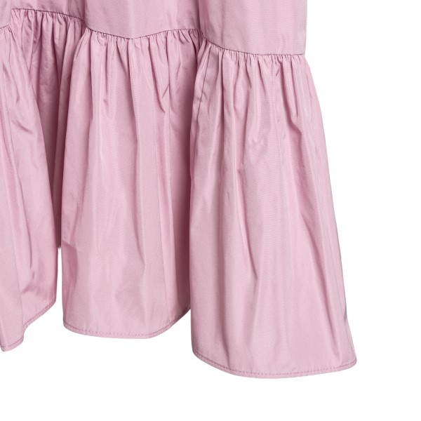 Pink sleeveless dress with flounces                                                                                                                    RED VALENTINO