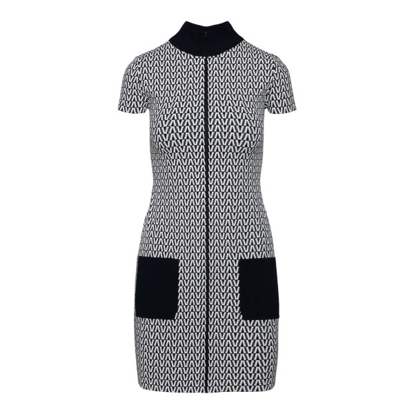 Short fitted dress with zip                                                                                                                            VALENTINO