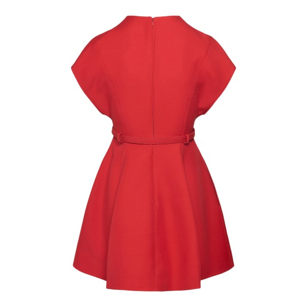 Red flared dress with belt                                                                                                                             VALENTINO
