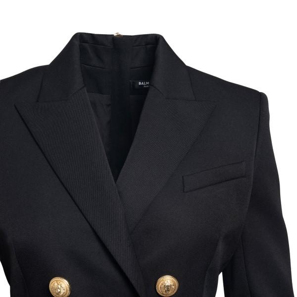 Short black dress in blazer style                                                                                                                      BALMAIN