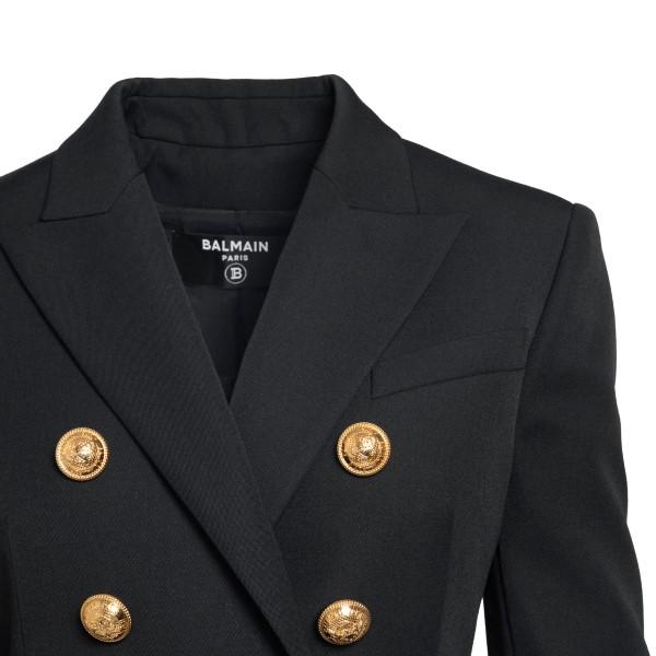 Double-breasted black blazer                                                                                                                           BALMAIN