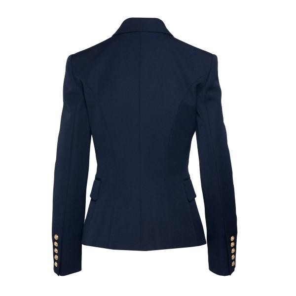 Double-breasted blue blazer                                                                                                                            BALMAIN