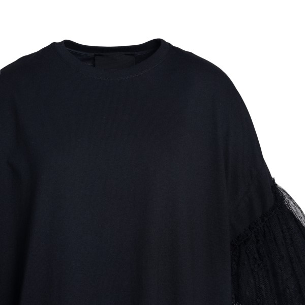 Black T-shirt with tulle                                                                                                                               RED VALENTINO