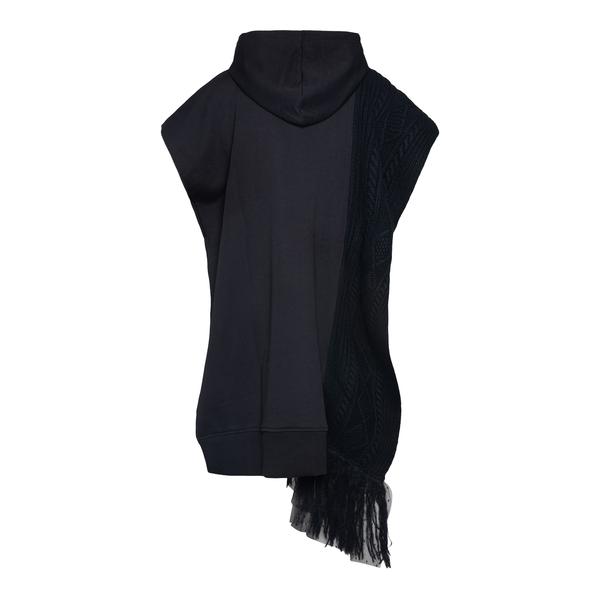 Short black sweatshirt dress with fringes                                                                                                              RED VALENTINO
