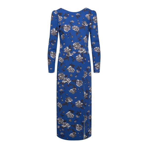 Long blue dress with roses                                                                                                                             RED VALENTINO