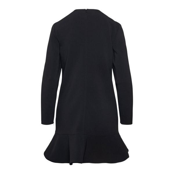 Short black dress in wrap design                                                                                                                       RED VALENTINO