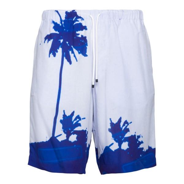 Light blue swimsuit with palm tree print                                                                                                               DRIES VAN NOTEN