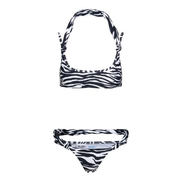 Zebra bikini set                                                                                                                                      The Attico 215WBB03 back