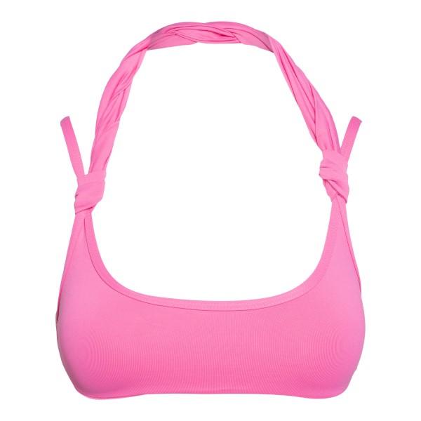 Top bikini rosa con dettagli attorcigliati                                                                                                            The Attico 215WBB14 retro