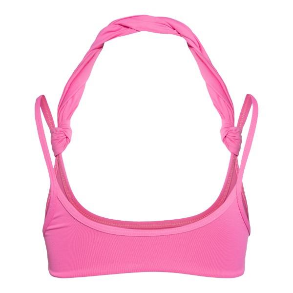 Top bikini rosa con dettagli attorcigliati                                                                                                             THE ATTICO                                         THE ATTICO