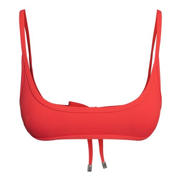 Top bikini rosso a canotta                                                                                                                            The Attico 215WBB18 retro