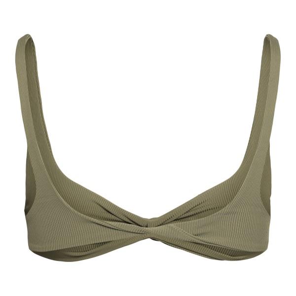 Bikini top in dark green                                                                                                                               THE ATTICO