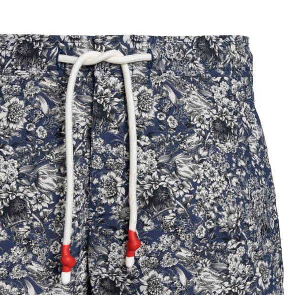 Blue swimsuit with floral print                                                                                                                        ORLEBAR BROWN