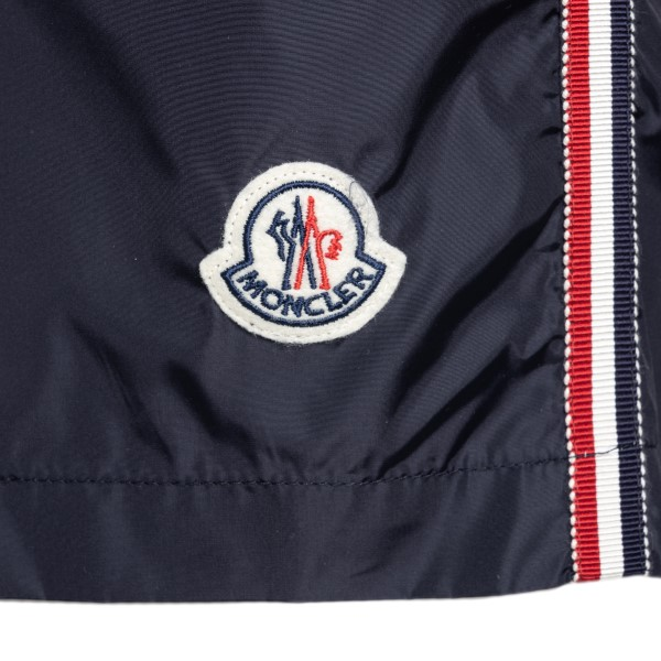 Navy blue swimsuit with logo patch                                                                                                                     MONCLER