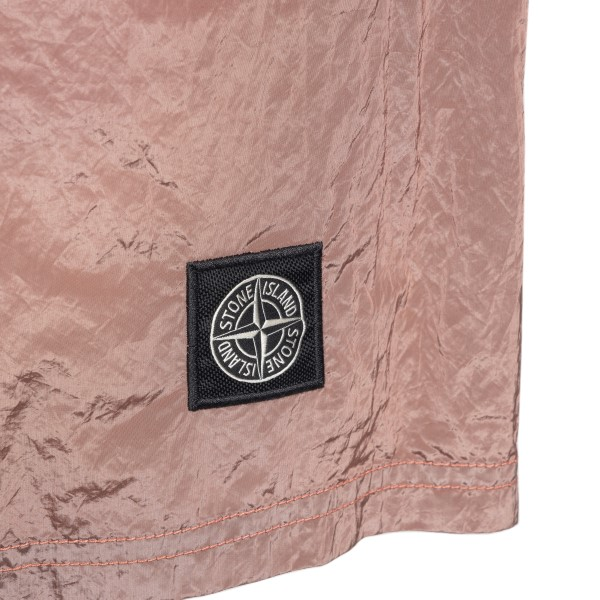 Pink swimsuit with logo patch                                                                                                                          STONE ISLAND