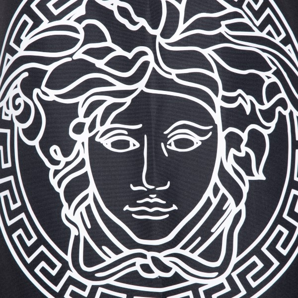 Black swimsuit with Medusa and logo                                                                                                                    VERSACE