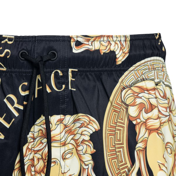 Black swimsuit with Baroque print                                                                                                                      VERSACE