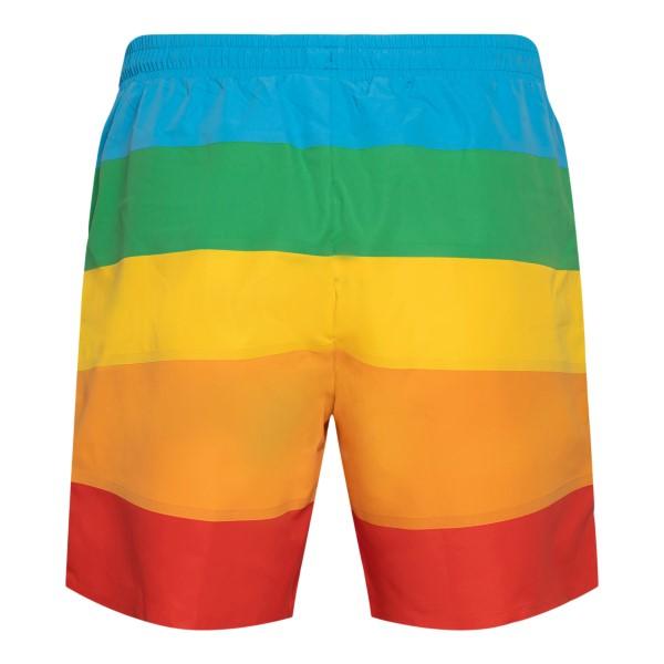 Costume multicolore a righe con logo                                                                                                                   LACOSTE L!VE                                       LACOSTE L!VE