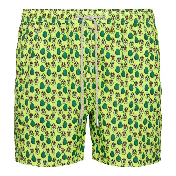 Costume verde con stampa avocado                                                                                                                      Saint Barth AVOCADOSUN retro