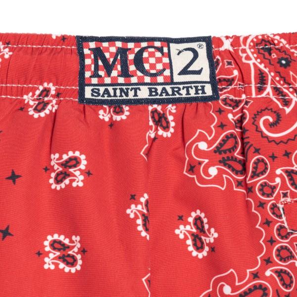 Costume rosso con stampa a bandana                                                                                                                     SAINT BARTH                                        SAINT BARTH