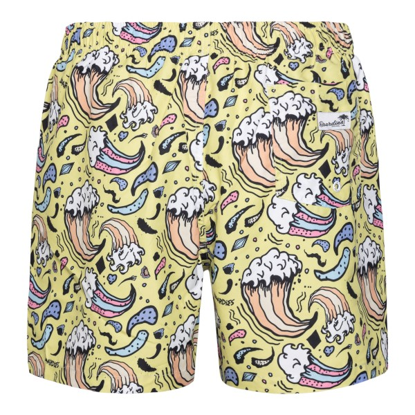 Yellow swimsuit with prints                                                                                                                            BOARDIES