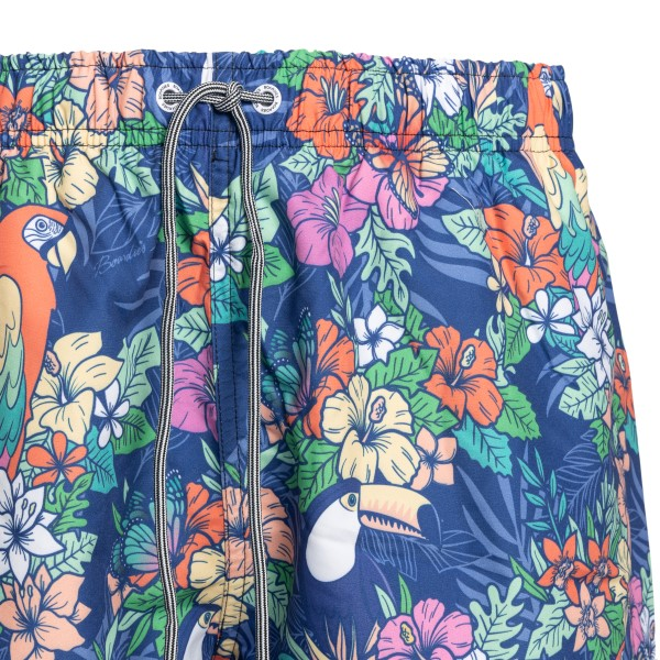 Costume blu con stampa tropicale                                                                                                                       BOARDIES                                           BOARDIES