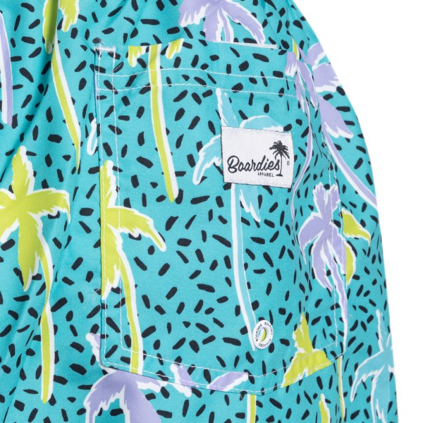 Light blue swimsuit with palm tree print                                                                                                               BOARDIES
