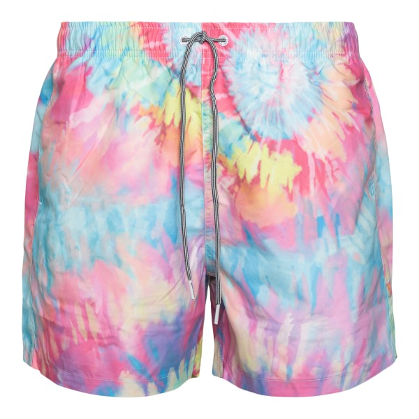 Costume multicolore effetto tie-dye                                                                                                                   Boardies BS731MID retro
