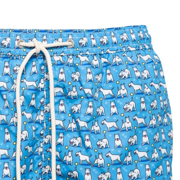 Costume azzurro con pattern Bull Terrier                                                                                                               SAINT BARTH                                        SAINT BARTH