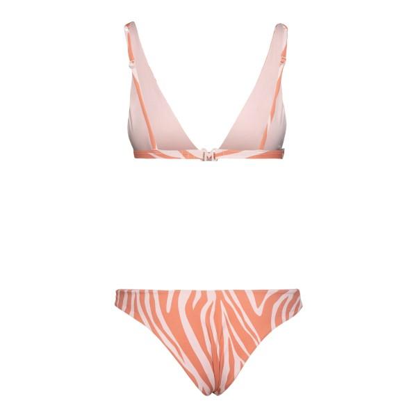 Set bikini zebrato color rosa salmone                                                                                                                  MANEBI                                             MANEBI