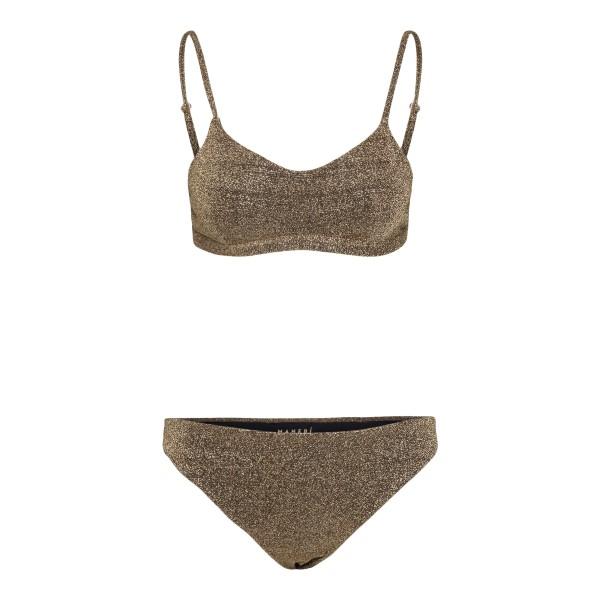 Gold lurex bikini set                                                                                                                                 Manebi F42BBWBW000 back