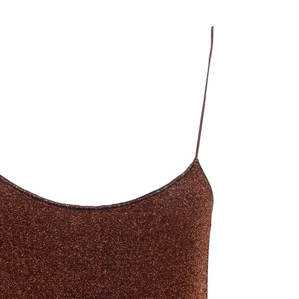 Brown lurex one-piece swimsuit                                                                                                                         OSEREE SWIMWEAR