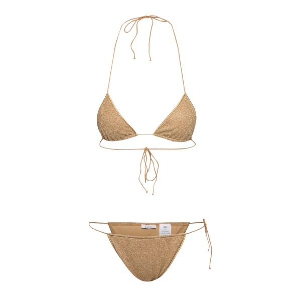 Gold lurex bikini set                                                                                                                                 Oseree Swimwear LTS216 back
