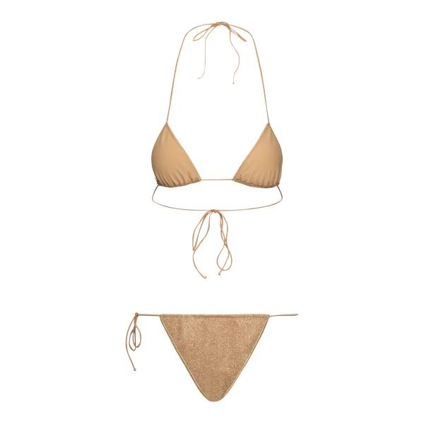 Gold lurex bikini set                                                                                                                                  OSEREE SWIMWEAR