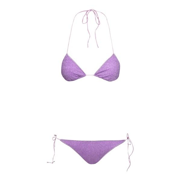 Purple lurex bikini set                                                                                                                               Oseree Swimwear LTS601 back