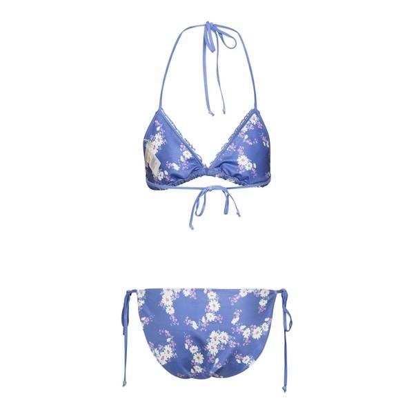 Bikini azzurro con stampa                                                                                                                             Love Shack Fancy LW014 retro