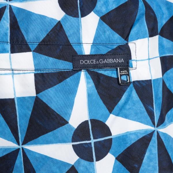 Blue patterned costume                                                                                                                                 DOLCE&GABBANA