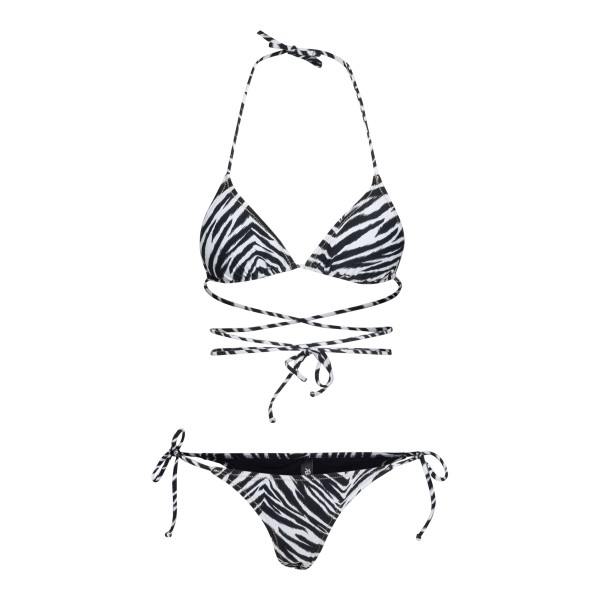 White zebra bikini set                                                                                                                                Reina Olga MIAMI back