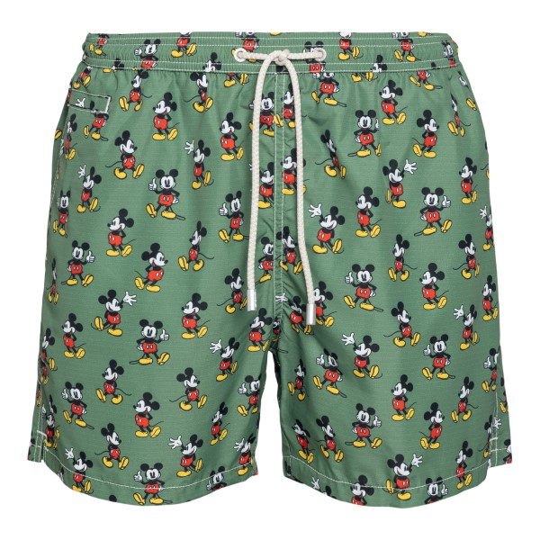 Costume verde con pattern Topolino                                                                                                                    Saint Barth MICKEYLOOP retro